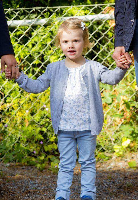 Foto: La pequeña Estelle, en su primer día de guardería (Gtres)