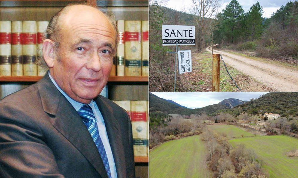 Foto: José Antolín (izquierda). A la derecha, el acceso a la finca La Santé, en Oña, propiedad de la familia Antolín. (EC)