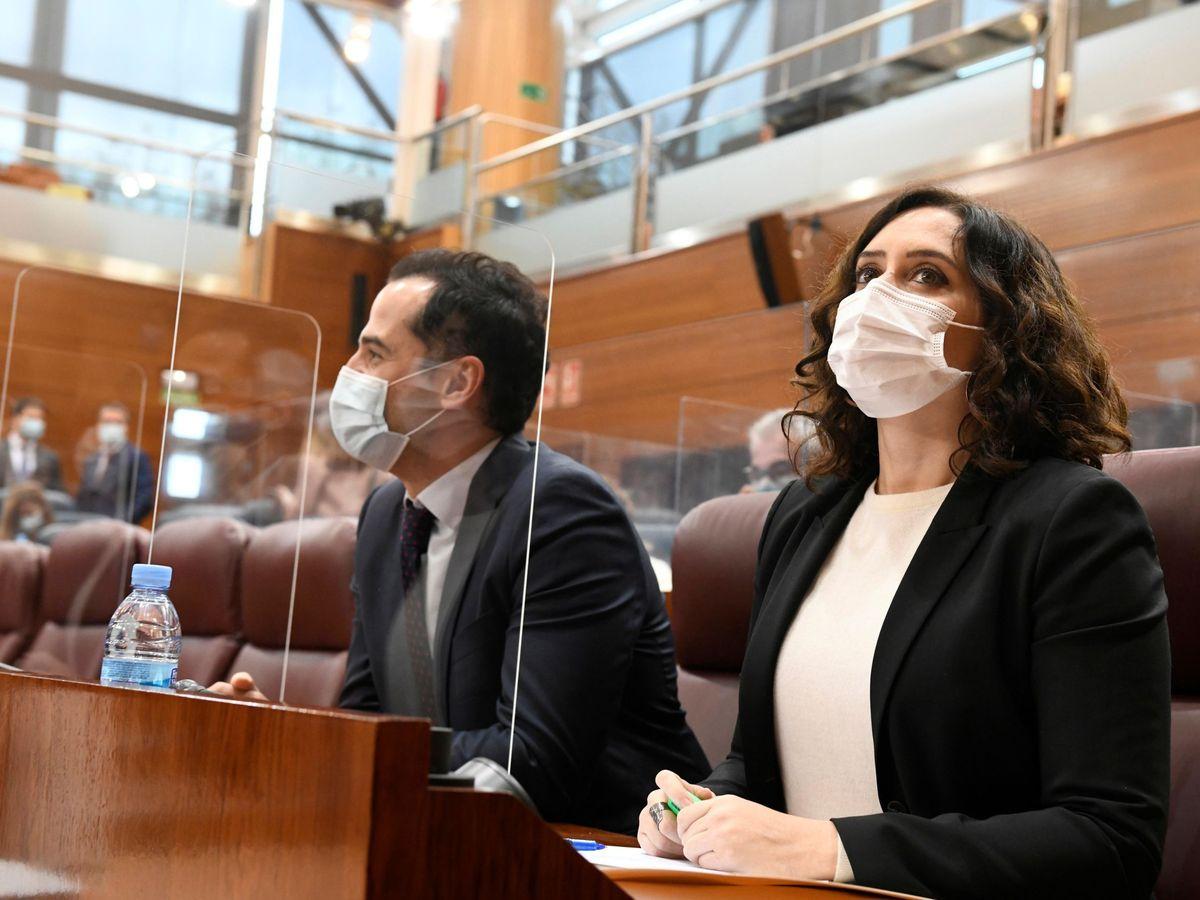 Foto: La presidenta de la Comunidad de Madrid, Isabel Díaz Ayuso, y el vicepresidente regional, Ignacio Aguado. (EFE)