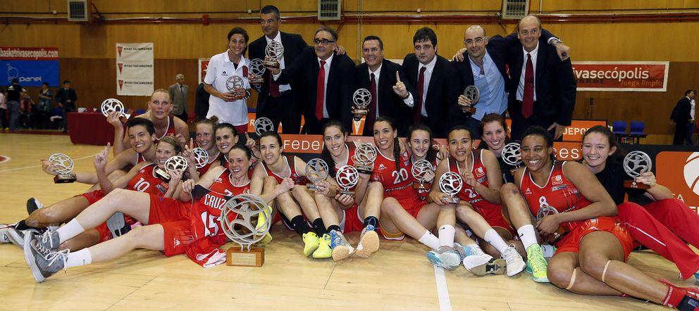 Foto: El Rivas Ecópolis se proclamó campeón de la pasada Liga Femenina tras vencer al Perfumerías Avenida de Salamanca (EFE)