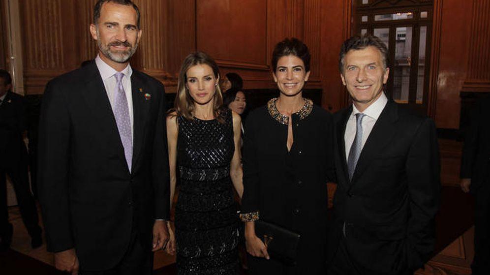 Foto: Los Reyes junto a Macri y Juliana Awada en una imagen de archivo (Gobierno de Buenos Aires)