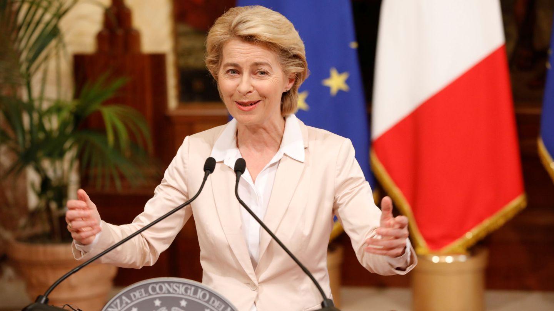 Ursula von der Leyen, presidenta electa de la Comisión, en su visita a Roma. (Reuters)