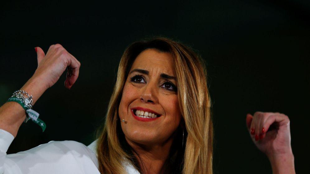 Foto: Susana Díaz en el acto de final de campaña este viernes. (Reuters)