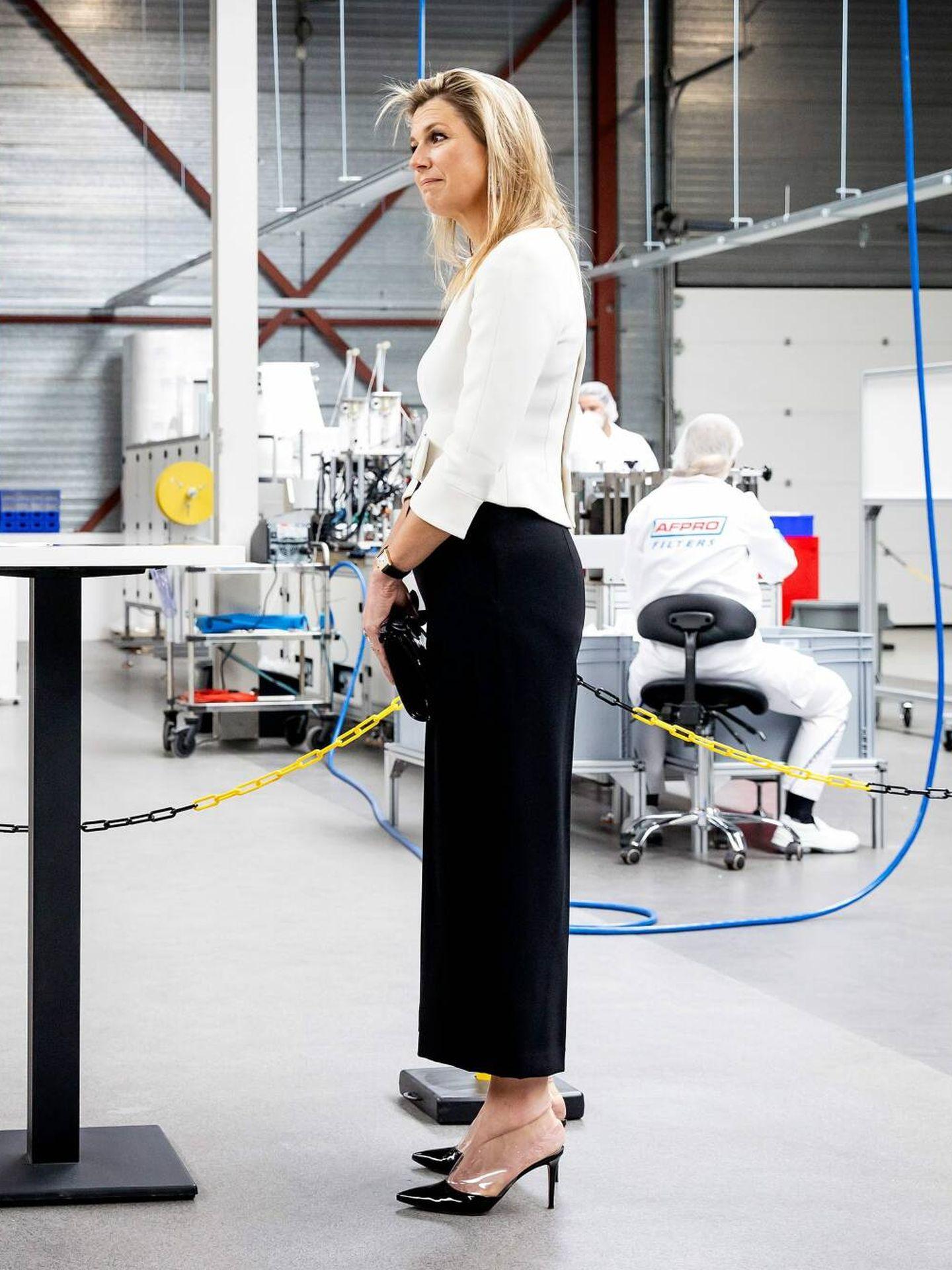 Máxima de Holanda, con zapatos de vinilo en un compromiso oficial. (Cordon Press)