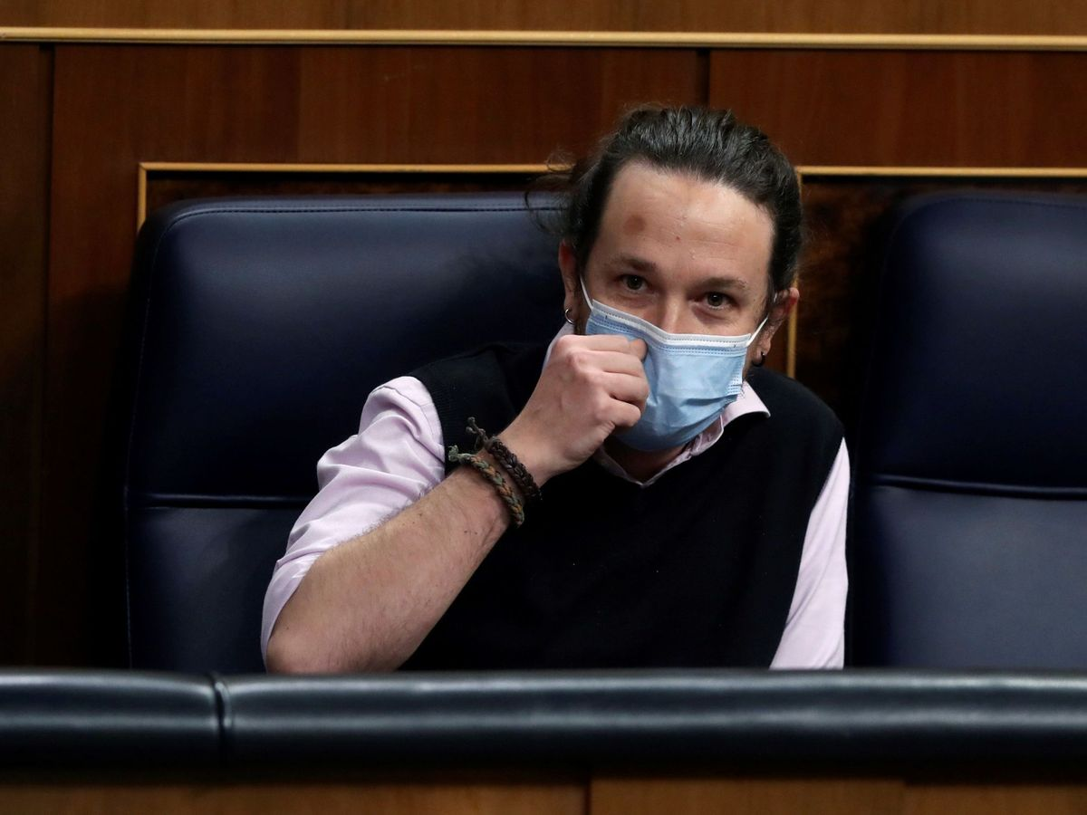 Foto: El líder de Podemos, Pablo Iglesias, en el Congreso. (EFE)