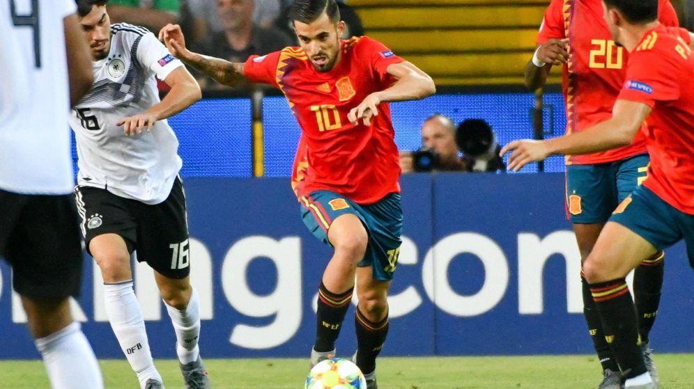 Foto: Dani Ceballos, durante la final de la Eurocopa sub-21 que enfrentó a España y Alemania el domingo en Udine. (EFE)