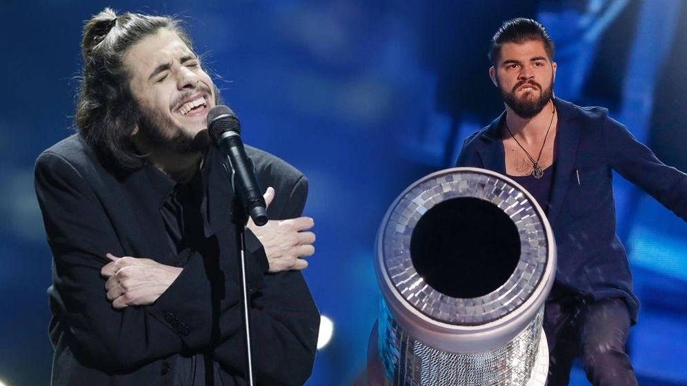 Foto: Salvador Sobral es insultado por Alex, el representante de Rumanía en Eurovisión 2017.