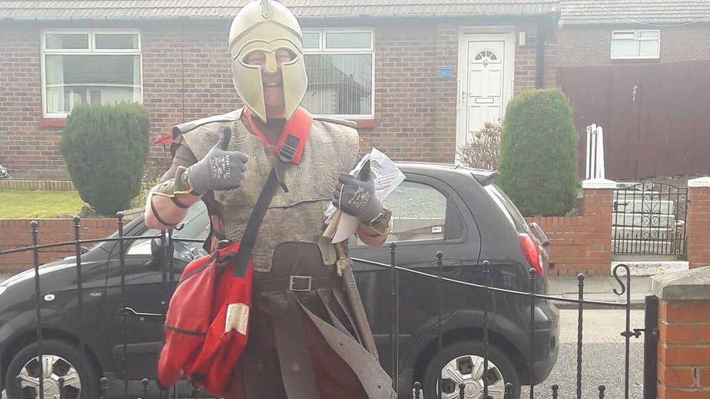 Foto: Jon Matson, disfrazado de gladiador. Foto: Instagram