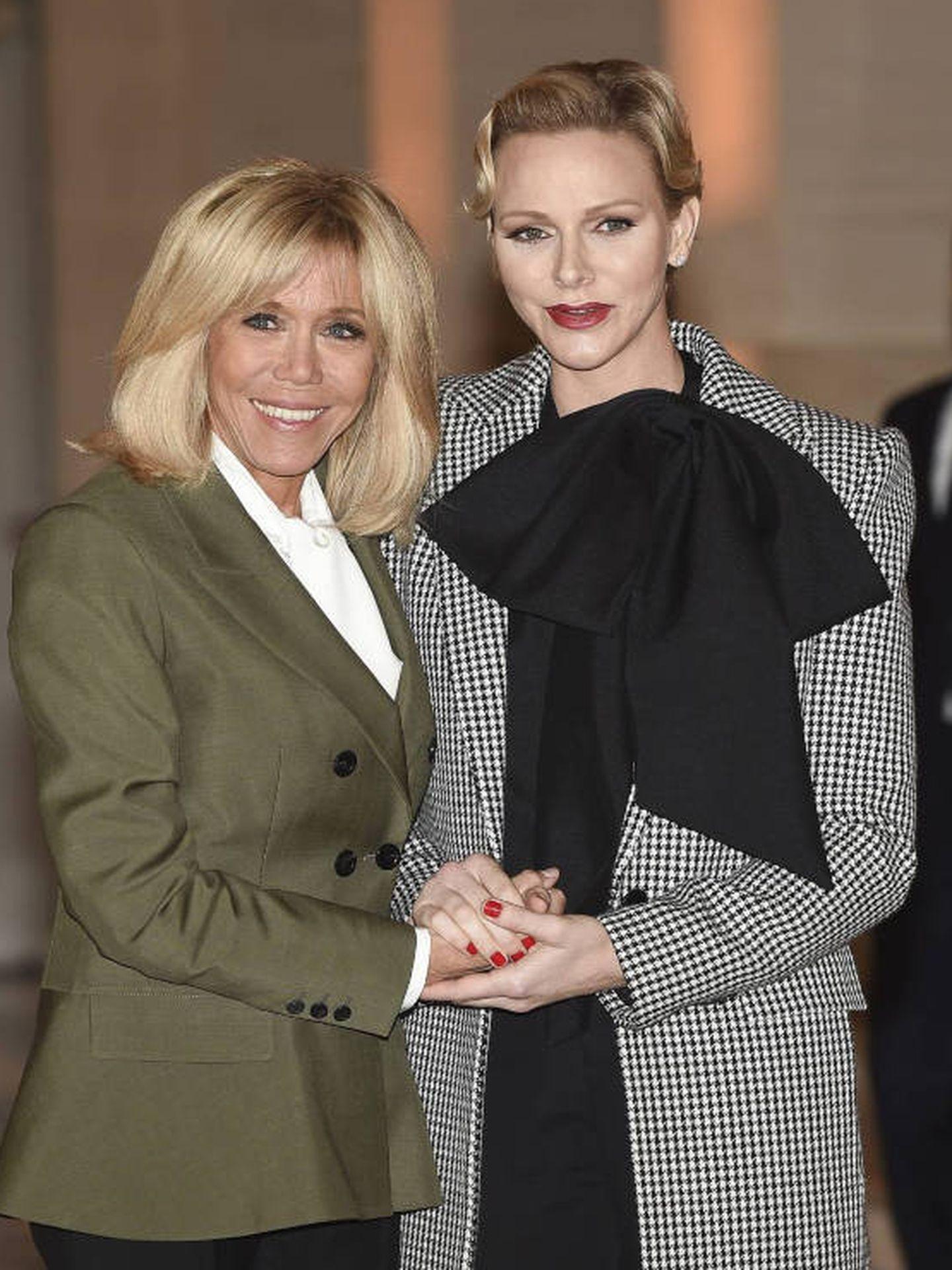 Charlène de Mónaco y Brigitte Macron, en 2018. (Cordon Press)