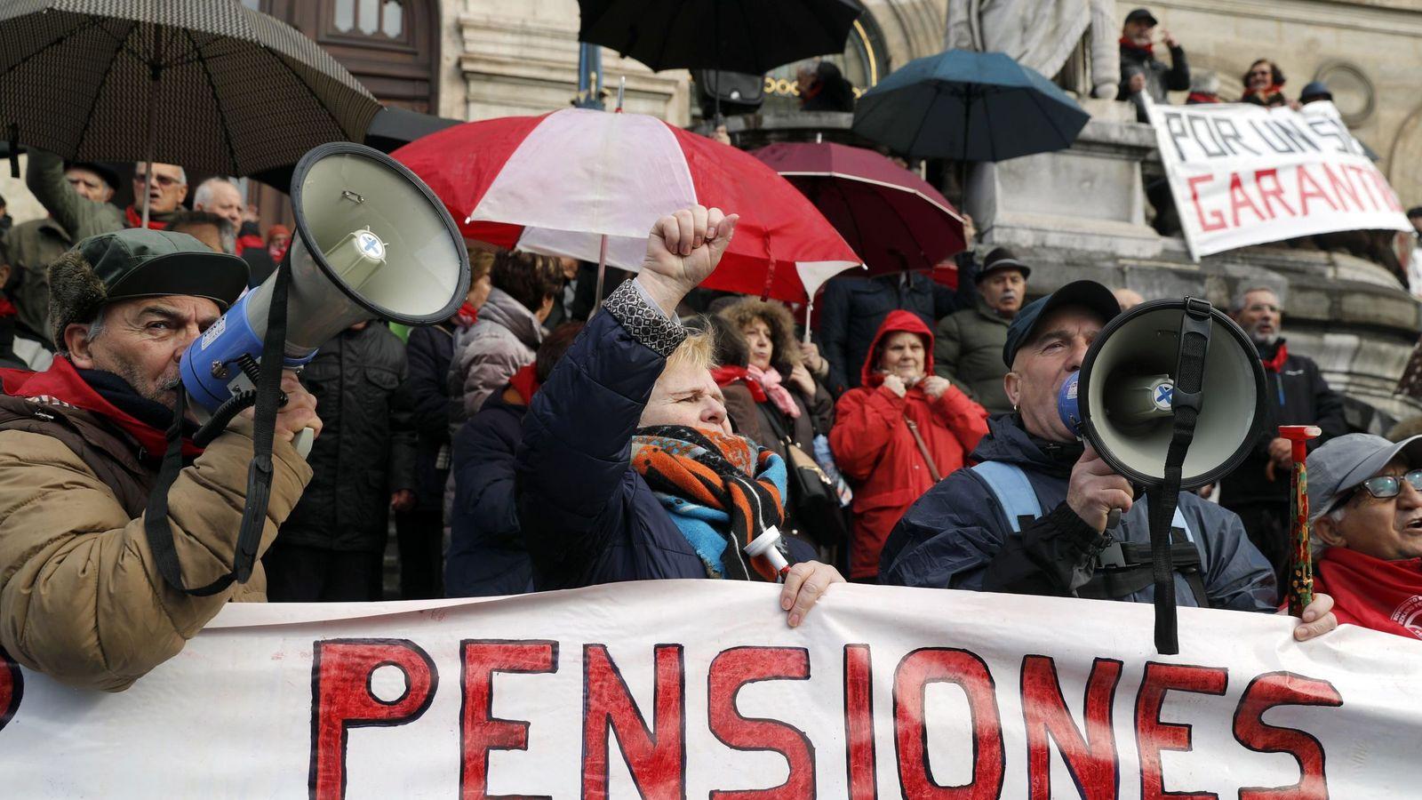 Foto: Manifestación por unas pensiones dignas en Vizcaya. (EFE)