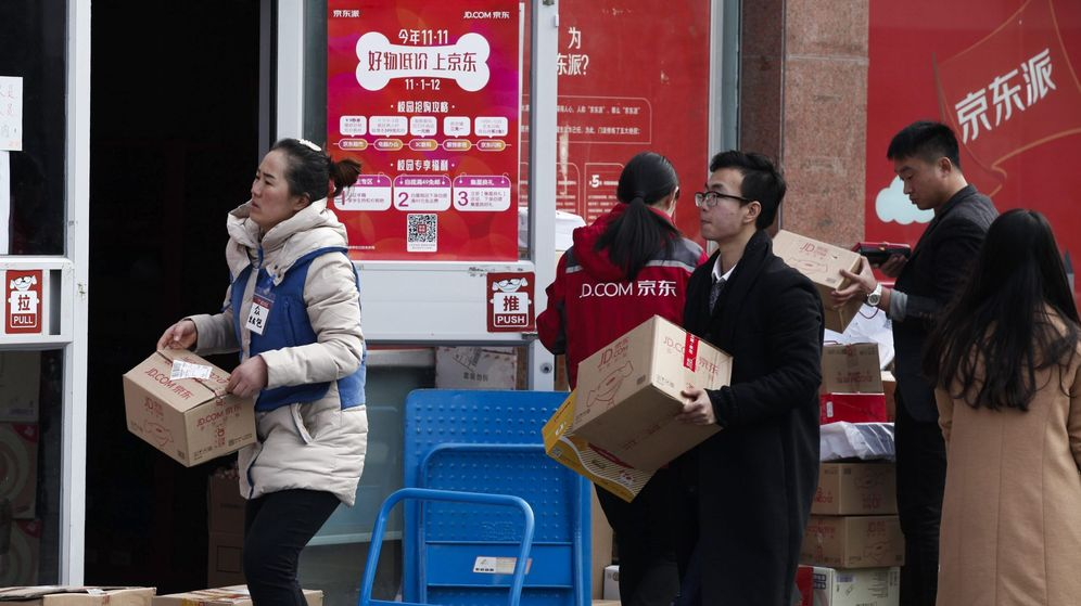 Foto: El 'Singles Day' inunda China con paquetes (EFE)