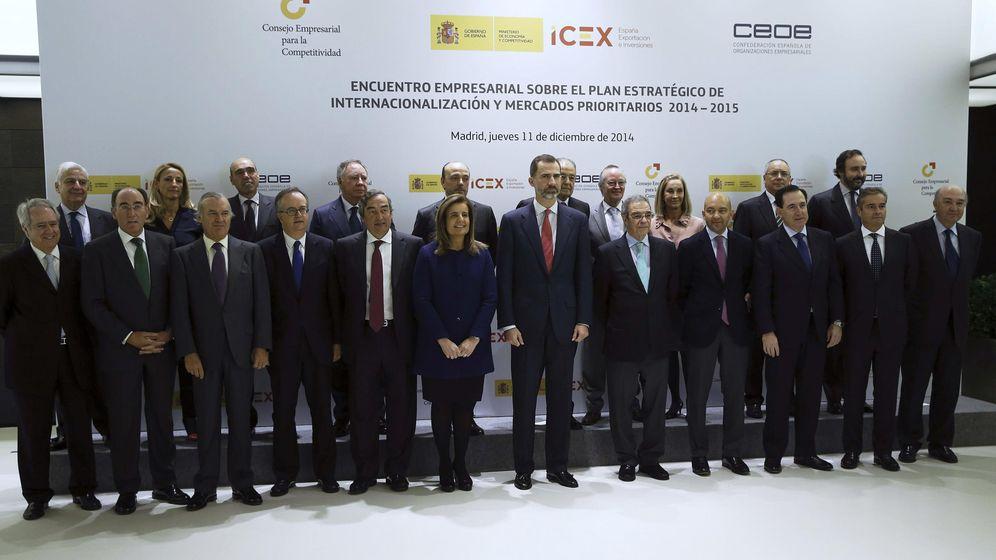 Foto: Foto de familia de Felipe VI junto a miembros del Consejo Empresarial de la Competitividad. (EFE)