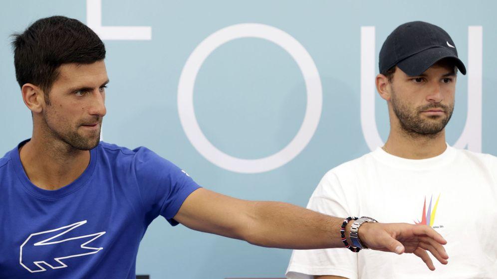 Foto: Djokovic y Dimitrov, durante el Adria Tour (Reuters)