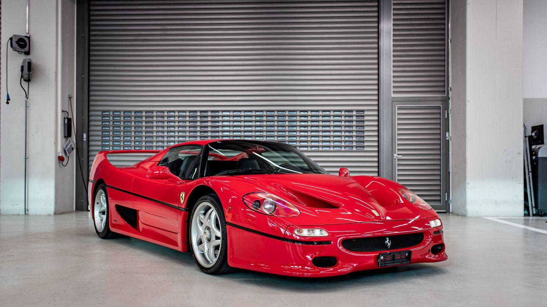 El F50 de 1996 es una de las mejores unidades en la colección de Vettel por su posición de mercado, también ha sido ya vendido