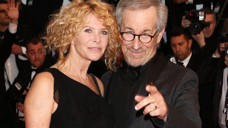 Kate Capshaw y Steven Spielberg, tres décadas juntos. (Getty)