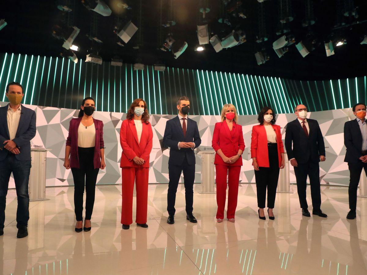 Foto: Debate de los candidatos.