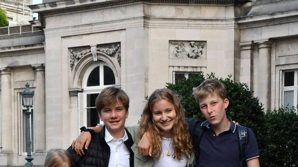 Foto: Los hijos de los reyes de Bélgica. (Redes sociales)