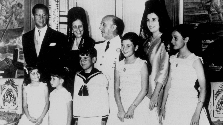 Foto: La familia Franco, en una imagen de archivo. (Cordon Press)
