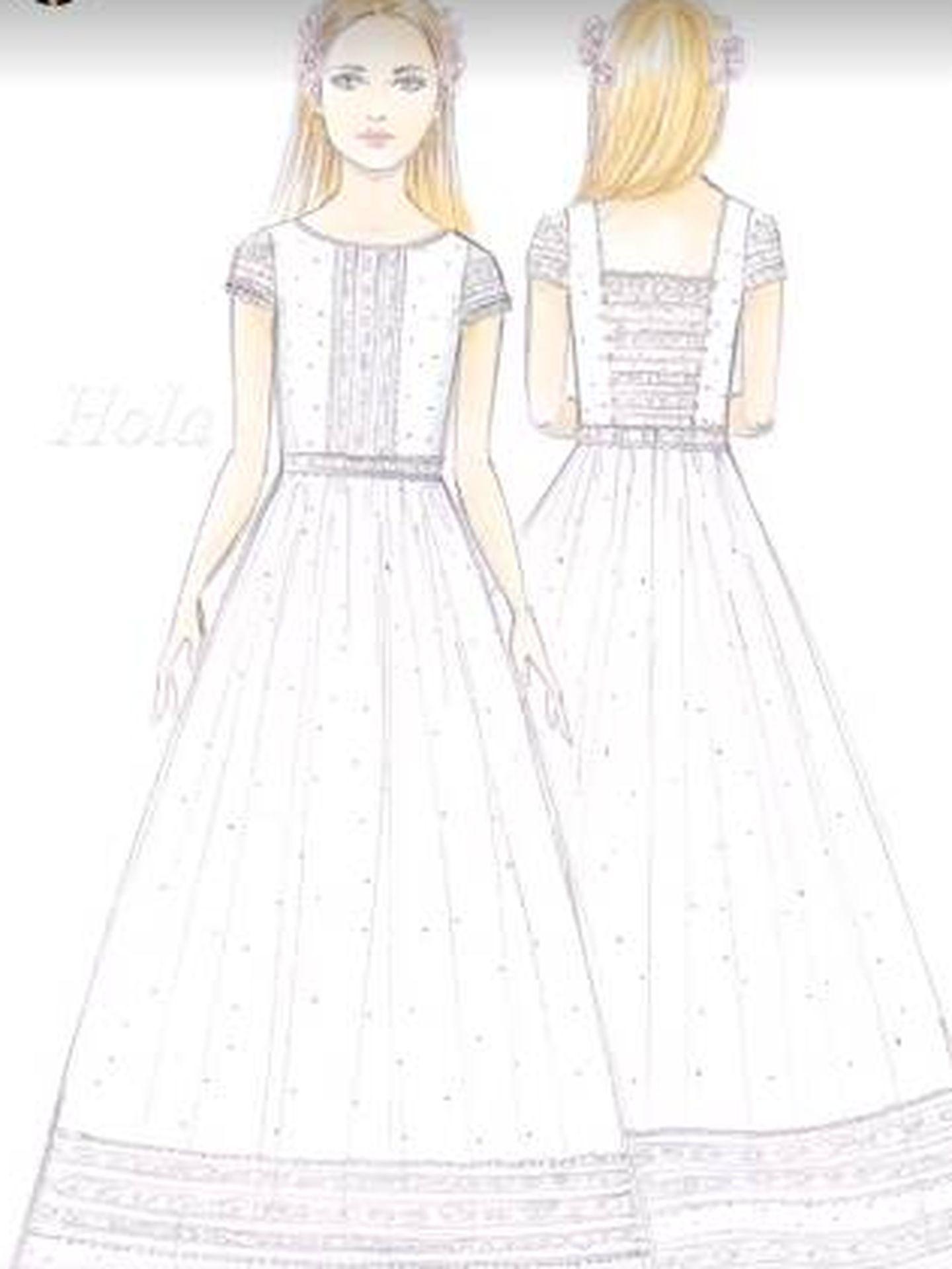 Boceto del vestido. (IG)