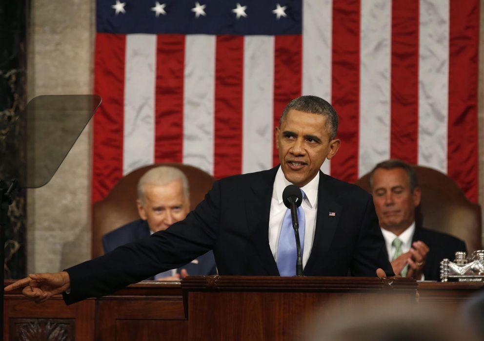 Foto: Obama durante el discurso del Estado de la unión