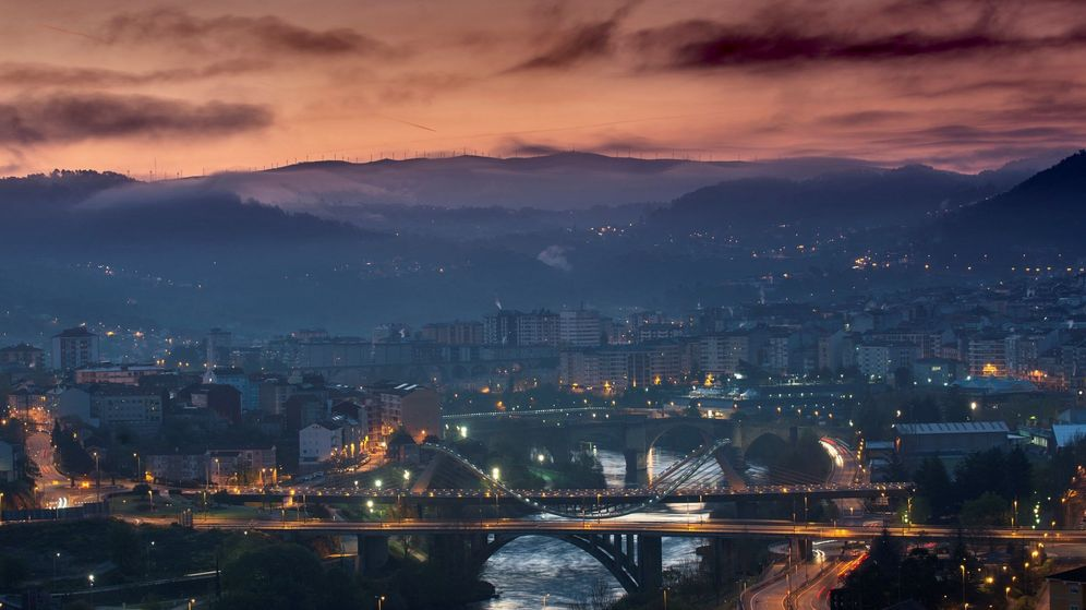 Foto: La ciudad de Ourense no destaca, precisamente, por sus edificios altos (EFE/Brais Lorenzo)