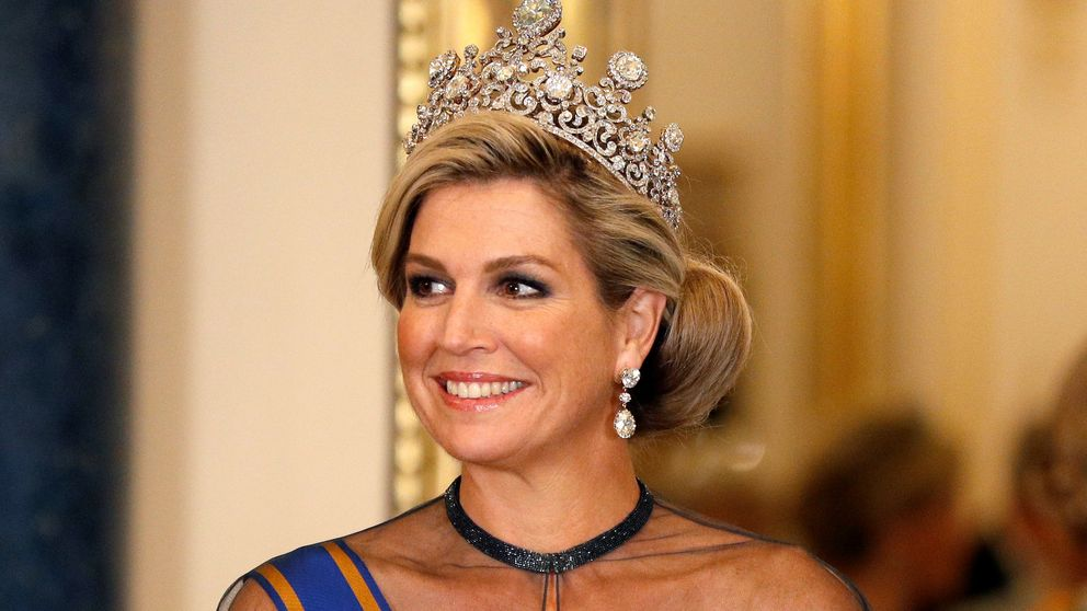 La reina Máxima estrena el diamante más importante de los Orange en Buckingham