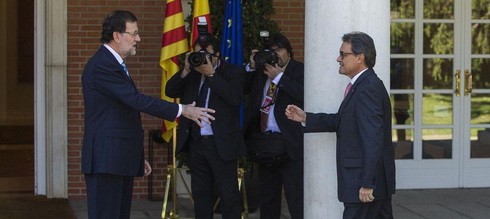 Foto: Rajoy recibe a Artur Mas en La Moncloa (GTRES).