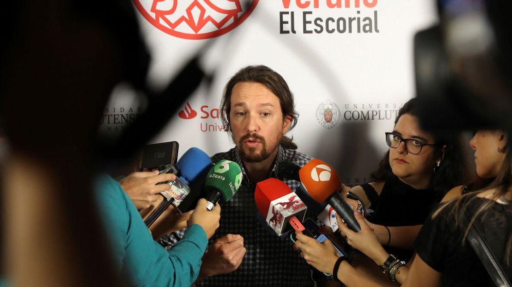 Foto: Pablo Iglesias en los cursos de verano de El Escorial. (EFE)