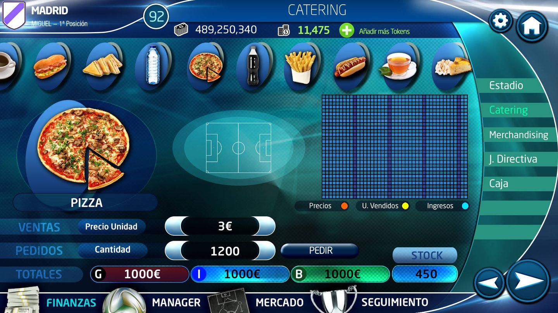 Una de las pantallas de 'PC Fútbol 2018'.