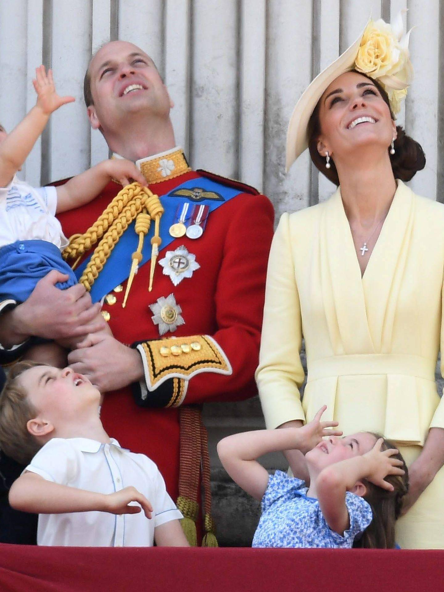 Los Cambridge y sus hijos en el 'Tropping the Colour 2019'. (Cordon Press)