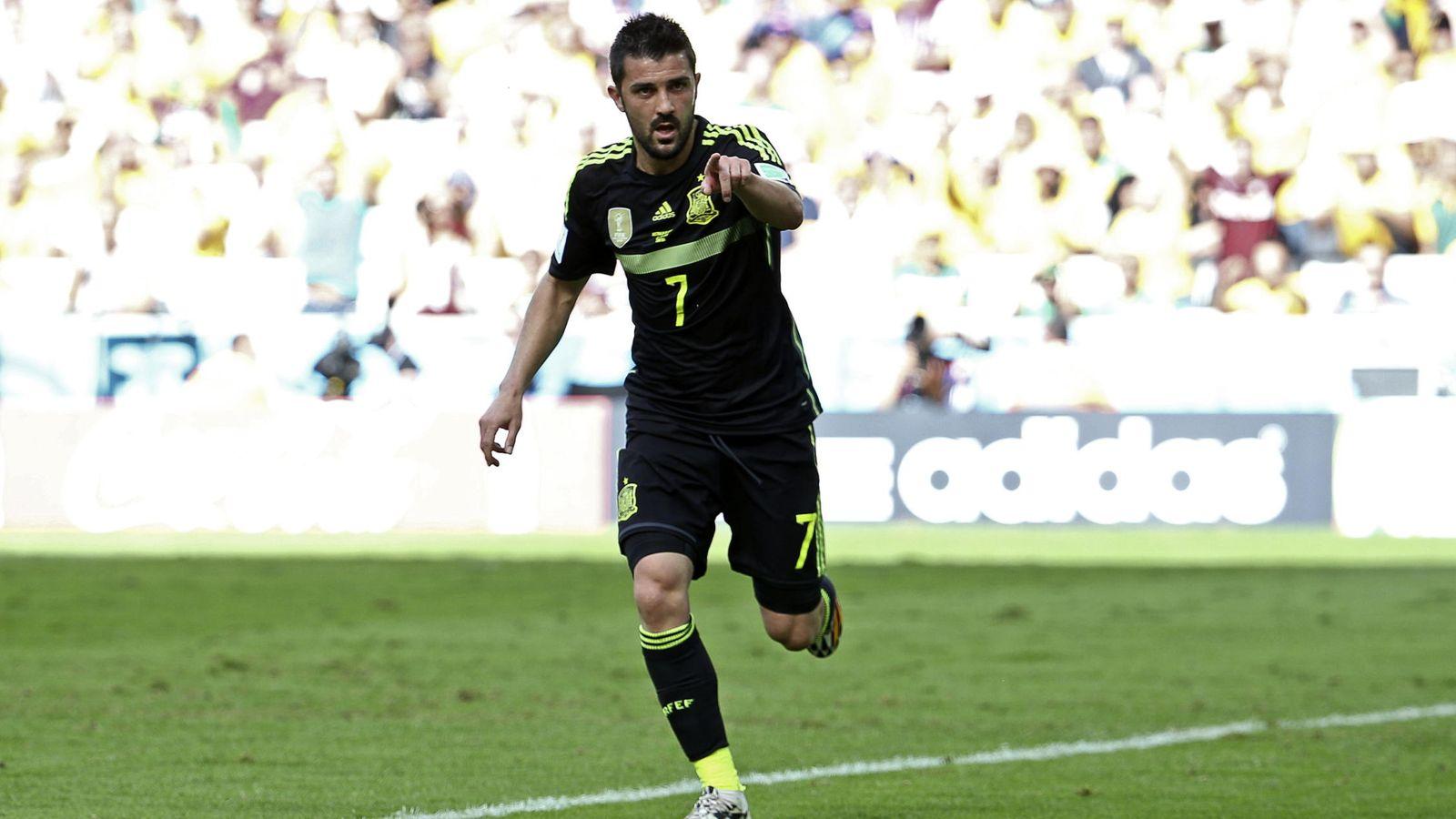 Foto: Villa jugó su último partido con la selección el 23 de junio de 2014. Marcó el primer gol en la victoria por 3-0 ante Australia en el Mundial de Brasil. (EFE)
