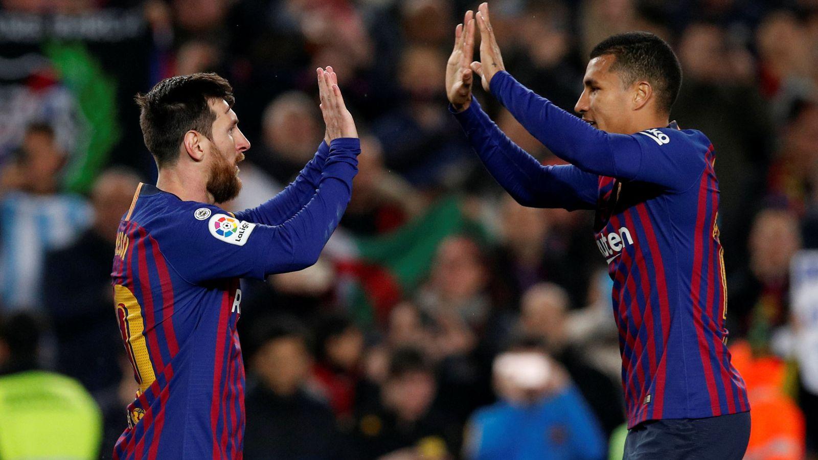 Foto: Leo Messi y Jeison Murillo. (Reuters)