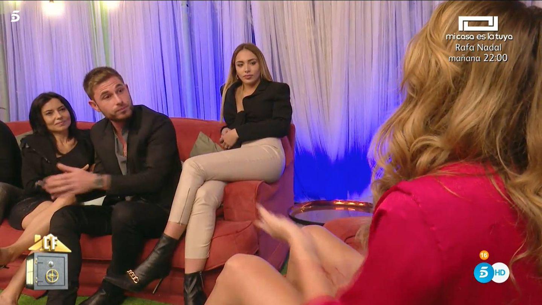 Tom Brusse, Sandra Pica y Samira, en 'La casa fuerte 2'. (Mediaset España)