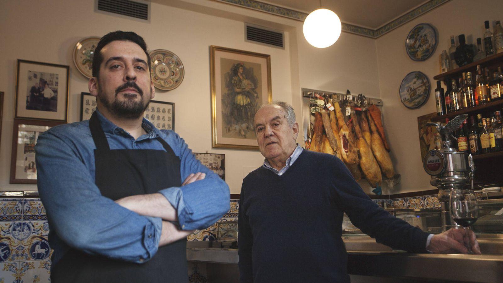 Foto: David y Mariano, la tradición y el relevo generacional. (Enrique Villarino)