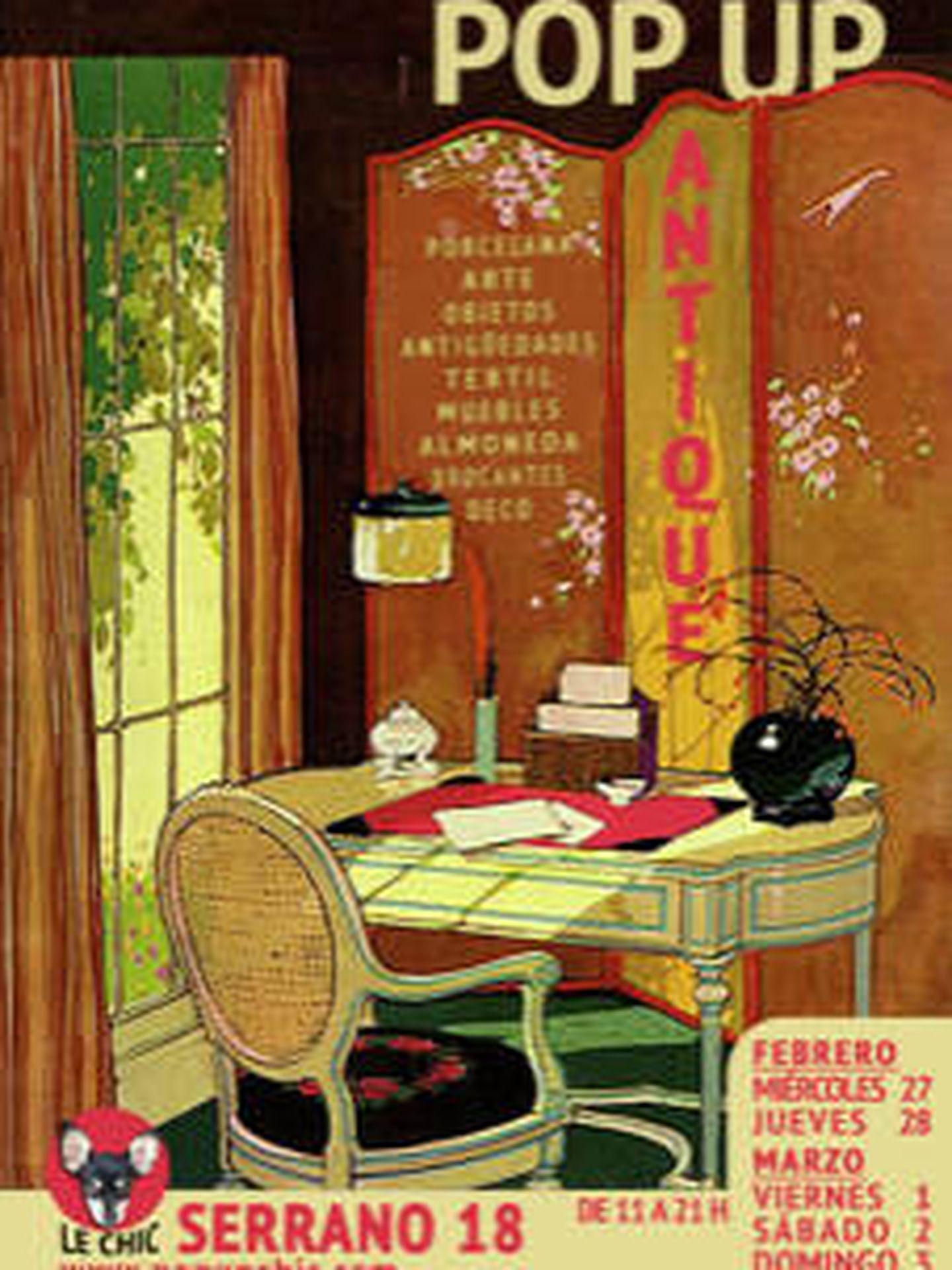 Cartel de Antique & Le Chic.