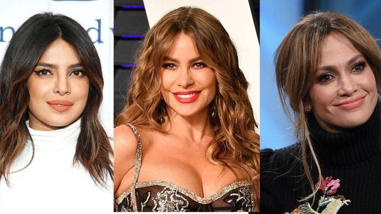 Priyanka Chopra, Sofia Vergara y Jennifer Lopez. (Getty)