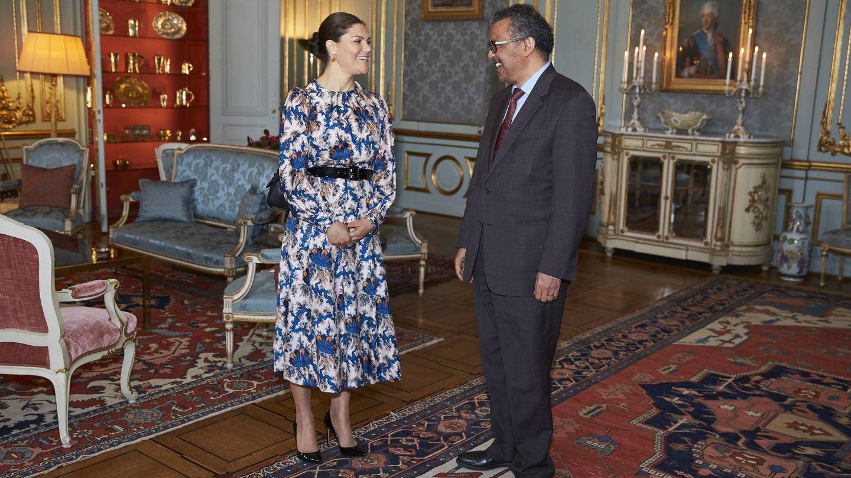 Victoria de Suecia con el vestido. (CP)