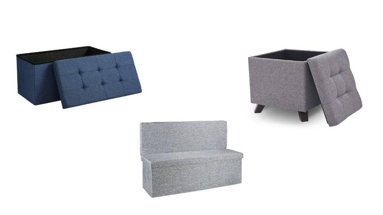 Otomanas, bancos o taburetes versátiles para almacenar cosas y sentarse o viceversa