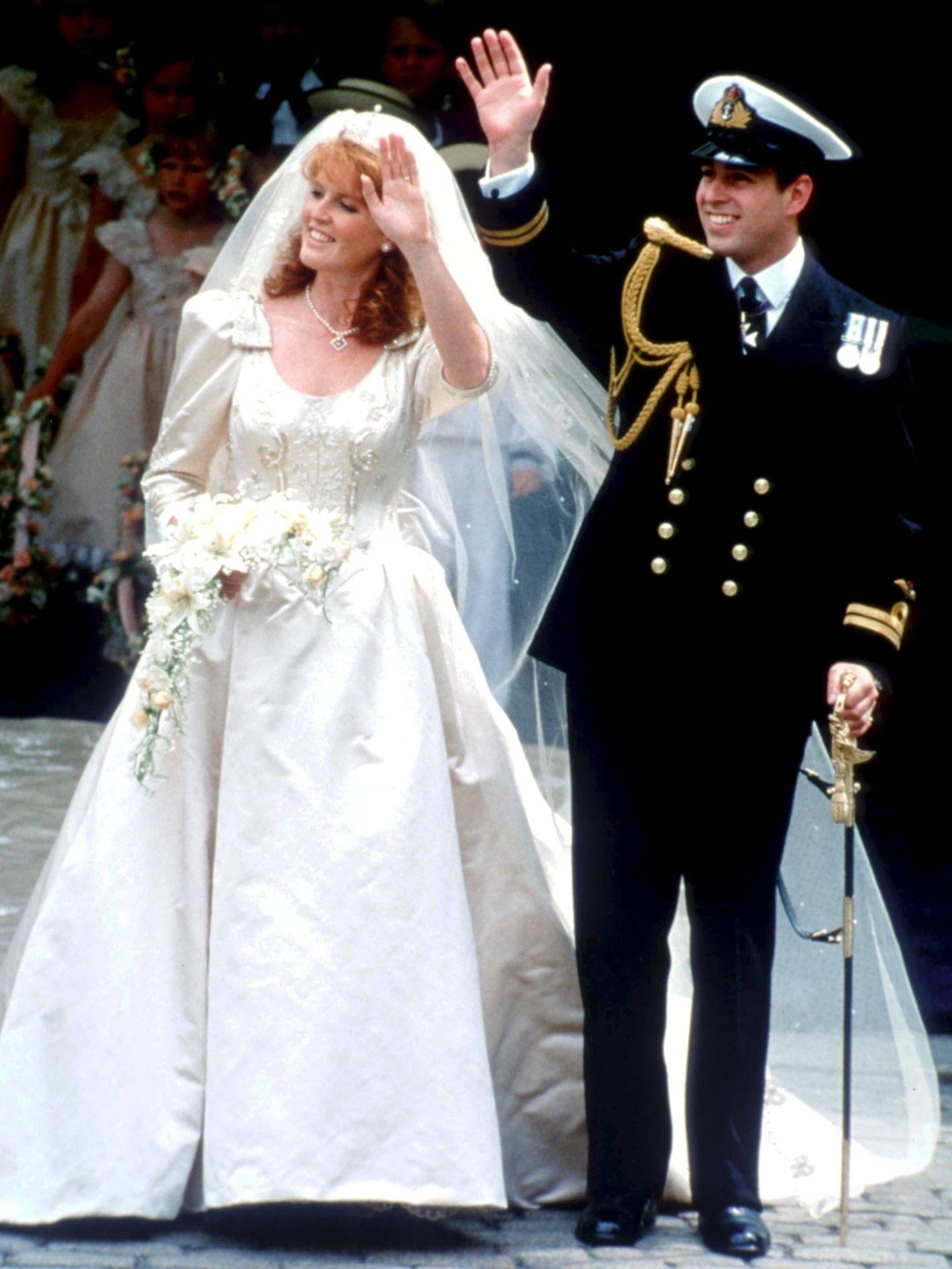 La boda de Sarah Ferguson y el príncipe Andrés. (Cordon Press)