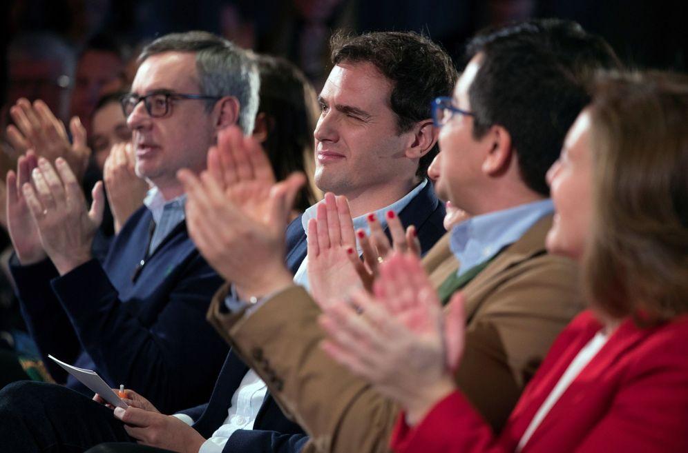 Foto: Rivera guiña un ojo a Arrimadas en un acto celebrado el pasado domingo.