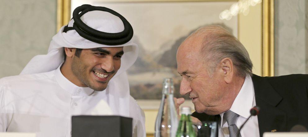 Foto: Joseph Blatter y Mohammed Al-Thani en una reunión en Qatar.