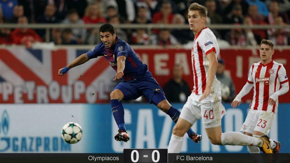 El Barça se vulgariza, Sergi Roberto se lesiona y Luis Suárez se desespera