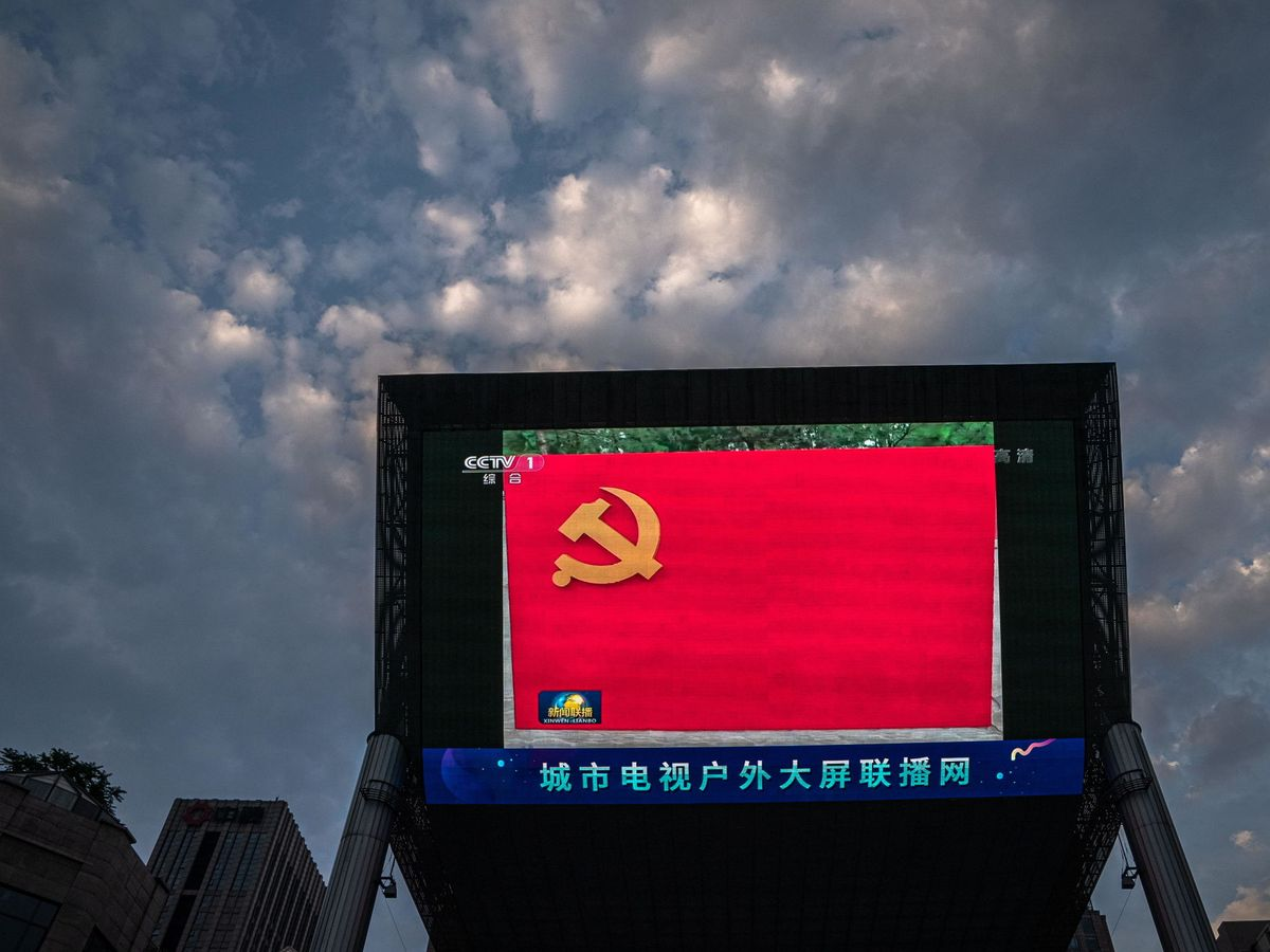 Photo: Chinese Communist Party flag.  (Reuters)