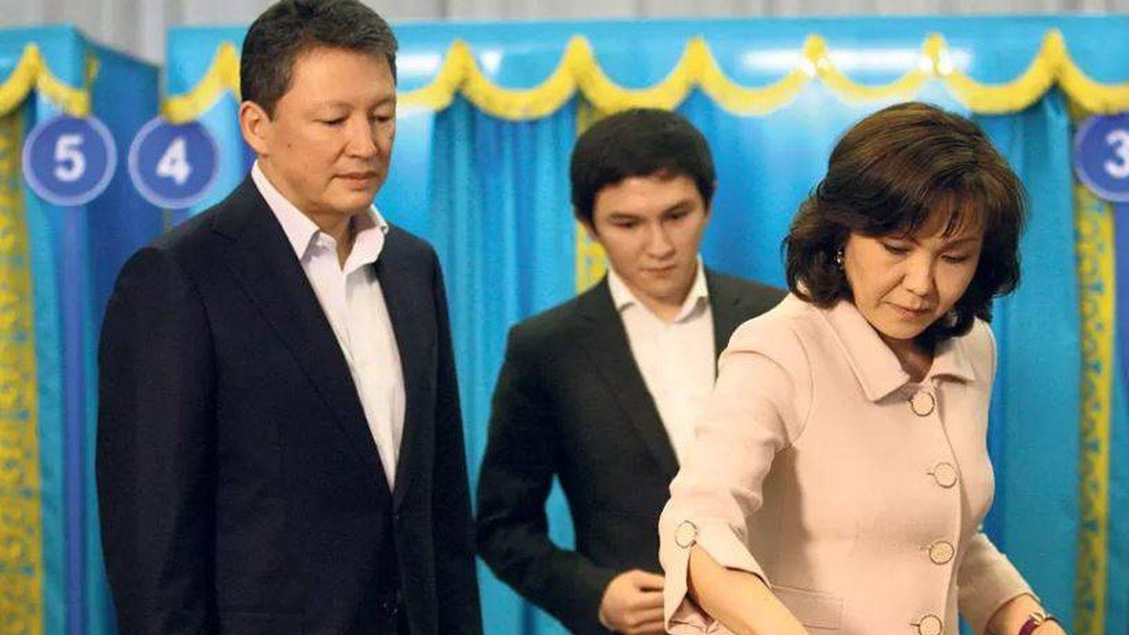Foto: Dinara Nazarbayeva y su marido en una imagen de archivo.