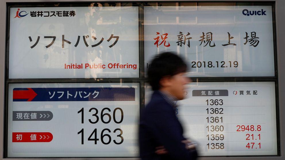 La filial de móviles de SoftBank se desploma un 14,53% en su debut en bolsa