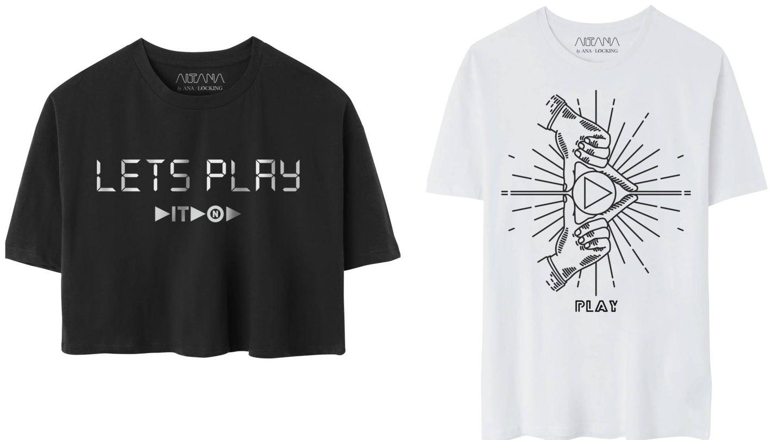 Camisetas del 'Play Tour' de Aitana. (Cortesía)