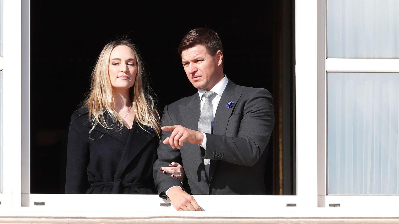 El hermano de Charlène de Mónaco, Gareth Wittstock, y su mujer, Roisin Galvin. (EFE)