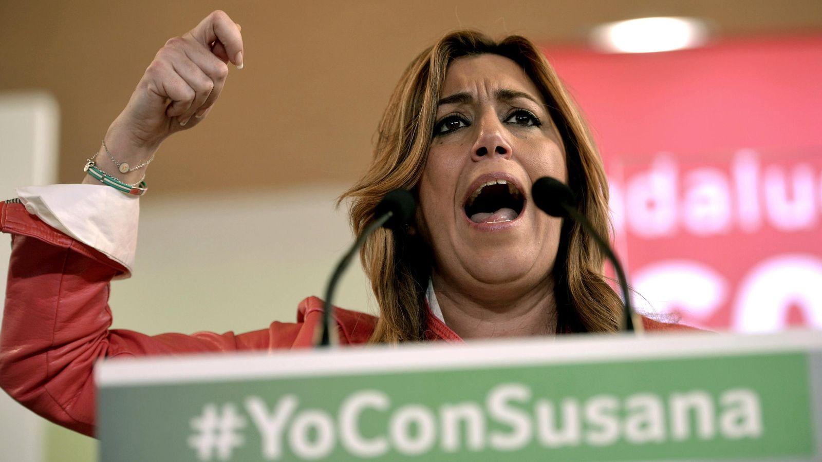 Foto: Susana Díaz, en un acto de su campaña electoral celebrado en Córdoba. (Efe)