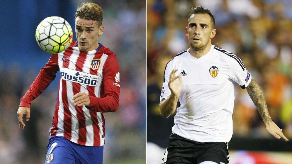 Foto: Los dos líderes de ambos equipos, Griezmann y Alcácer (EFE/Cordon Press).