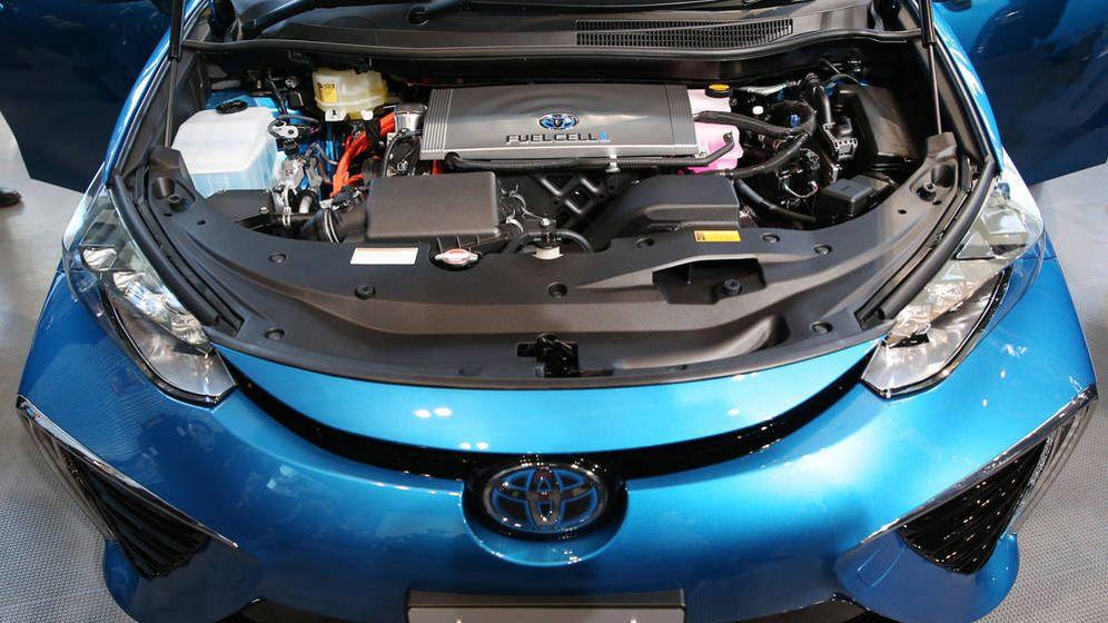 Foto: El Mirai de Toyota funciona con una pila de combustible de hidrógeno.
